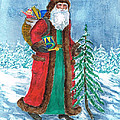 Old World Father Christmas4 Print by Barbel Amos