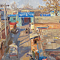 On the backyards of Beijing Print by Victoria Kharchenko