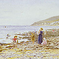 On the Beach Poster by Helen Allingham