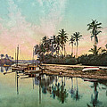 On the Miami River - Florida - Vintage Photo from circa 1900 Print by Blue Monocle