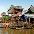 On the Shores of Tonle Sap Print by Douglas J Fisher