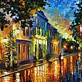 ON THE WAY TO MORNING Print by Leonid Afremov