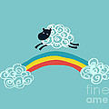 one happy cloud Print by Budi Satria Kwan