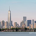 One World Trade Center And Ellis Island 2 Print by Susan Candelario