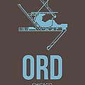 ORD Chicago Airport Poster 2 Print by Naxart Studio