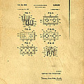 Original Patent for Lego Toy Building Brick Poster by Edward Fielding