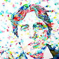 OSCAR WILDE with CIGAR - watercolor PORTRAIT Poster by Fabrizio Cassetta