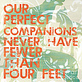Our Perfect Companion Print by Debbie DeWitt