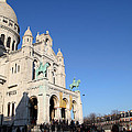 Outside the Basilica of the Sacred Heart of Paris - Sacre Coeur - Paris France - 01136 Print by DC Photographer