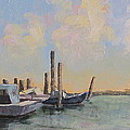 Oyster Boat Evening Print by Susan Richardson