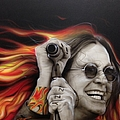 'Ozzy's Fire' Print by Christian Chapman Art