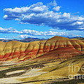 Painted Hills Blue Sky 3 Print by Bob Christopher