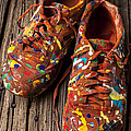 Painted Tennis Shoes Print by Garry Gay