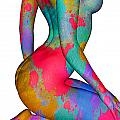 painted woman Poster by David Ridley