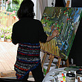 Painting My Backyard 1 Print by Becky Kim