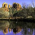 Panorama at Red Rocks Crossing in Sedona AZ Print by Teri Virbickis