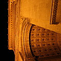 Paris France - Arc de Triomphe - 01132 Print by DC Photographer