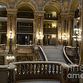 Paris Opera House Interior Romantic Staircase Balconies and Architecture  Print by Kathy Fornal