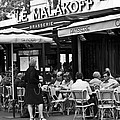 Paris Street Cafe - Le Malakoff Poster by Georgia Fowler