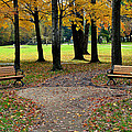 Park Bench Poster by Frozen in Time Fine Art Photography