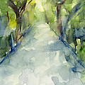 Path Conservatory Garden Central Park Watercolor Painting Print by Beverly Brown Prints