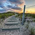Path Over The Dunes Print by Sebastian Musial