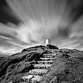 Path to Twr Mawr Lighthouse Print by David Bowman