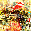 Patriotic Roller Coaster Print by Anahi DeCanio