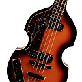Paul McCartney Hofner Bass  Print by Bill Cannon