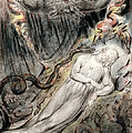 Pd.20-1950 Christs Troubled Sleep Print by William Blake