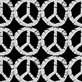 Peace in Black and White Poster by Michelle Calkins