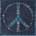 Peace Symbol Design - btq19at2 Print by Variance Collections