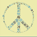 Peace Symbol Design - y87d Print by Variance Collections