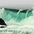 Pebble Beach Crashing Wave Print by Artist and Photographer Laura Wrede