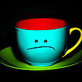 Peeved Colorful Cup and Saucer Poster by Natalie Kinnear