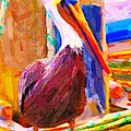 Pelican On The Dock Print by Wingsdomain Art and Photography