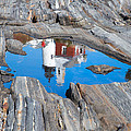 Pemaquid Lighthouse reflection Print by Emmanuel Panagiotakis