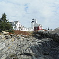 Pemaquid Point Lighthouse Poster by Joseph Rennie