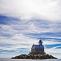 Penfield Reef Lighthouse Fairfield Connecticut Print by Stephanie McDowell