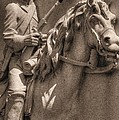 Pennsylvania at Gettysburg - 17th PA Cavalry Regiment - First Day of Battle Print by Michael Mazaika