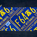 Pennsylvania State License Plate Map Print by Design Turnpike