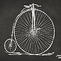 Penny-farthing 1867 High Wheeler Bicycle Patent - Gray Poster by Nikki Marie Smith