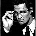 Pensive Man with Glasses Print by Jeff Stein