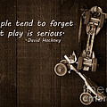 People tend to forget that play is serious Print by Edward Fielding