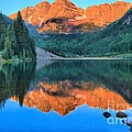 Perfect Reflections At The Bells Print by Adam Jewell