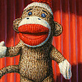 Performing Sock Monkey Poster by James W Johnson