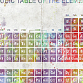 Periodic Table of The Elements Print by Paulette B Wright
