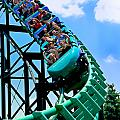 Phantoms Revenue Steel Roller Coaster Kennywood Park Poster by Amy Cicconi