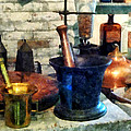 Pharmacist - Three Mortar and Pestles Print by Susan Savad
