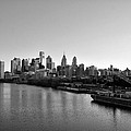 Philadelphia Black and White Print by Bill Cannon